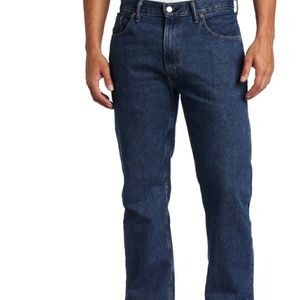Levi Strauss 505 Dark Stonewash Regular Fit Jeans